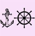 ships anchor wheel vector image vector image