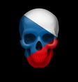 Czech flag skull vector image vector image