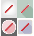 stationery flat icons 04 vector image vector image