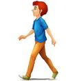 A tall man walking vector image