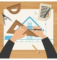 Architect at work vector image