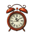 cartoon old alarm clock vector image