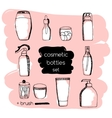 Doodle Cosmetic packaging set vector image