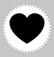 heart love icon vector image