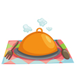 isolated cloche restaurant vector image
