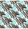 seamless pattern with grunge textures hand drawn vector image