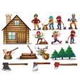 set of lumber vector image