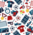 Sport football pattern vector image