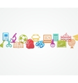 School background with icons vector image vector image