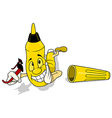 Yellow Felt Tip Pen vector image vector image