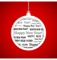 Happy New Year ball vector image