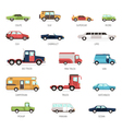 Flat Collection Of Different Car Models vector image