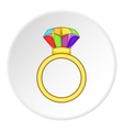 Ring LGBT icon cartoon style vector image