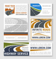 highway road construction banner template vector image vector image
