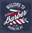 branding sign or insignia for barber shop vector image