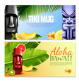 hawaiian party horizontal banners vector image