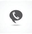 Telephone on word bubble speech vector image