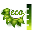 Ecological symbol vector image