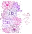 flowers stripe design vector image