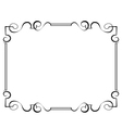 black frame on a white background vector image