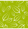 fresh green leafs texture vector image vector image