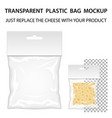 Transparent Plastic Bag Mockup Ready For Your vector image vector image