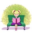 A girl reads a book vector image