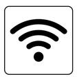 free wi-fi icon vector image