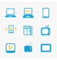 Media Icons set on white background vector image