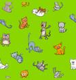 cartoon wallpaper design with cats vector image