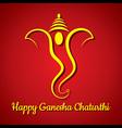 creative ganesh chaturthi festival greeting card b vector image