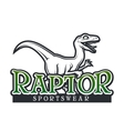Dino Logo template Raptor sport mascot vector image