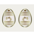 Easter egg with a gold border and the rabbit vector image
