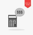 Income calculation concept icon Flat design gray vector image
