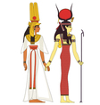 Isolated figure of ancient egypt god vector image