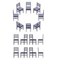 Isometric black chair vector image