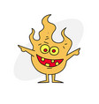 little fire demon vector image