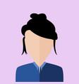 messy hair business women portrait vector image