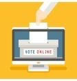 Online voting concept background vector image