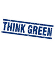 square grunge blue think green stamp vector image