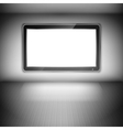 TV Set On The Wall In Dark Room vector image