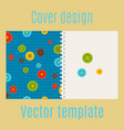 cover design with colorful buttons pattern vector image