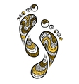 Ornamental footprint for your design vector image vector image