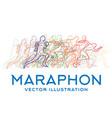 running people marathon concept vector image vector image