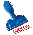 stamp vote vector image