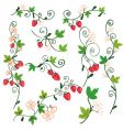 strawberry background design elements vector image vector image