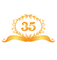 35th anniversary banner vector image vector image