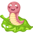 isolated cartoon worm vector image
