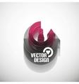 3d glossy arrow circle hi-tech concept vector image