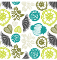 Seamless pattern with floral elements abstract vector image vector image